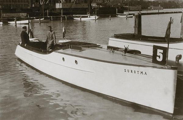motorboat Surotma for Mr Eisenlohr in Reutlingen. Kübler Collection, Stuttgart.