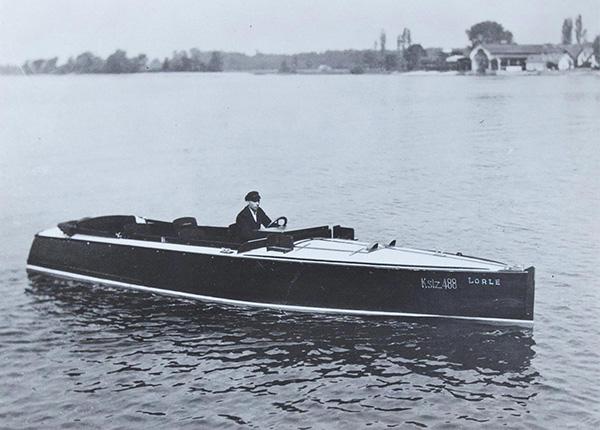 private motorboat Lorle. Kübler Collection, Stuttgart.