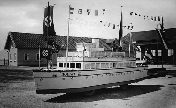 carnival floats of the Bodan shipyard in the 1930s. Collection Fuchs, Kressbronn a. B.