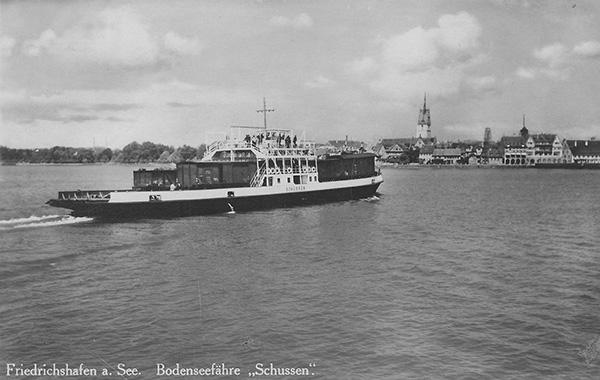 Trajektschiff Schussen. Privatsammlung Berthold Luick, Konstanz