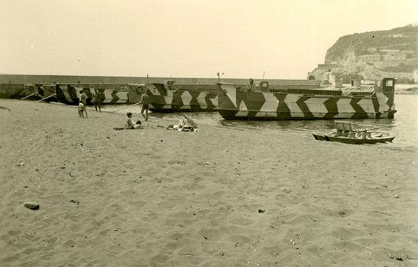Landing crafts on the beach, Amalfi Coast summer 1941. Trtanj Collection, Kressbronn a. B.