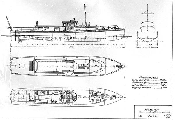 Technical drawing Bodan shipyard.