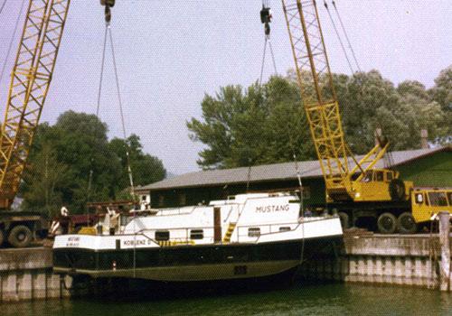 Schleppboot Mustang für die Wasserstraßendirektion Mainz. Sammlung Langer, Kressbronn a. B.