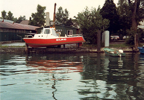 Motorboats for DLRG (German Life Saving Association) and fire brigade. Trapp Collection, Kressbronn a. B.
