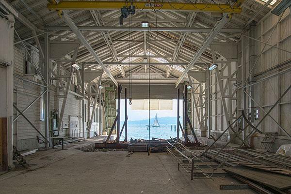 View of Hall 1 before reconstruction. Photo Albert Stöckle, Kressbronn a. B.